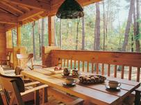 Drewniany domek na wakacje